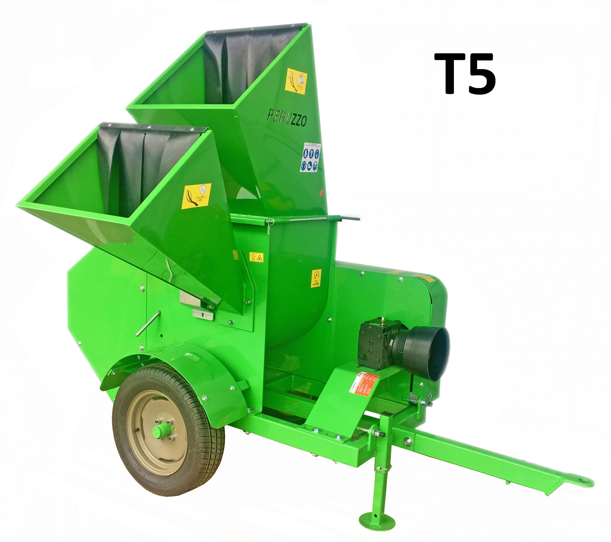 , Chipper Shredder T5 ground discharge, Peruzzo