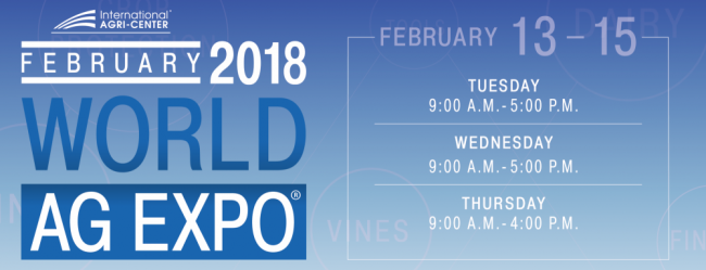 , WORLD AG EXPO 2018, Peruzzo