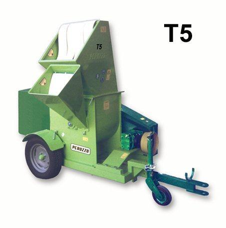, Chipper Shredder T5 ground discharge, Peruzzo