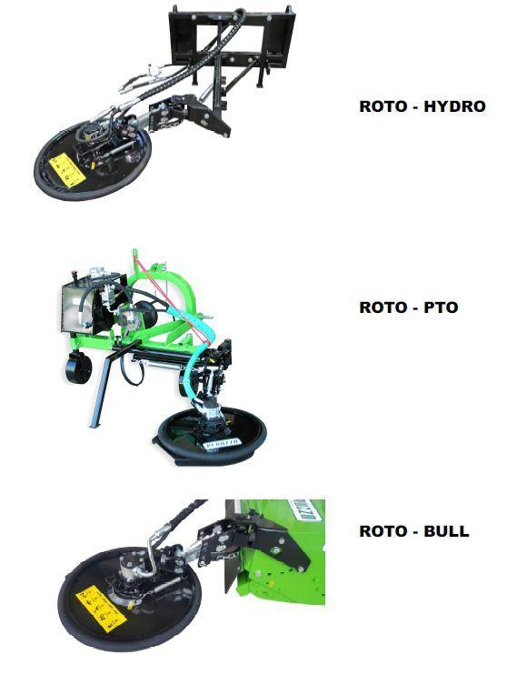 , Hydraulic rotary mower mod. – ROTO HYDRO – PTO – BULL, Peruzzo