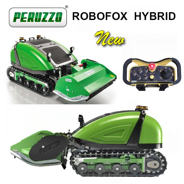 , Self-propelled remote-controlled flail mower ROBOFOX HYBRID, Peruzzo